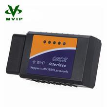 Vente Flash qualité outil d'analyse Scanner adaptateur sans fil WIFI ELM327 OBD2 Auto pour iPhone iPad iPod