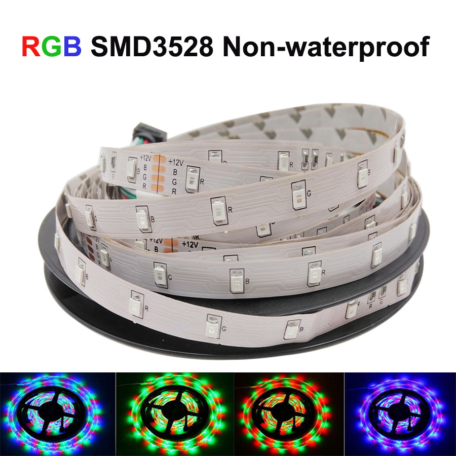 5m 3528 LED strip light RGB tape diode 5m LED Strip 3528 Single Color White / Red / Blue / Green / Yellow Rope Light LED strip(China (Mainland))