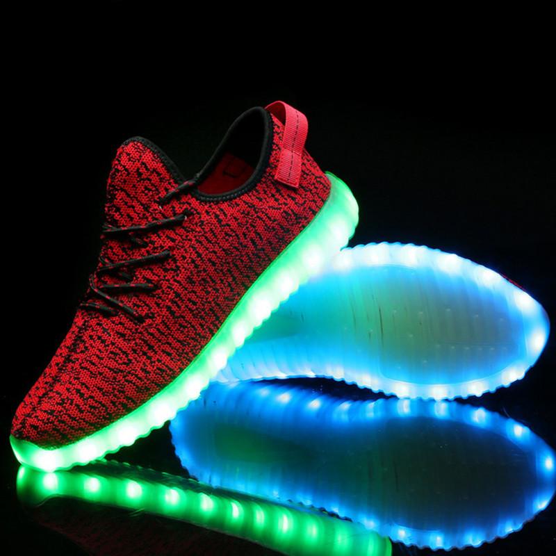 2016 New Kids Light Up Shoes Led Shoes For Adult Chaussure Lumineuse Enfant Pour Fille Basket Children Women Men Led Sneakers<br><br>Aliexpress