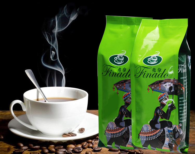 Hotsale China Yunnan Small Coffee Beans High Quality Arabica Chocolate Coffee Beans Baking Charcoal Roasted Instant Snacks