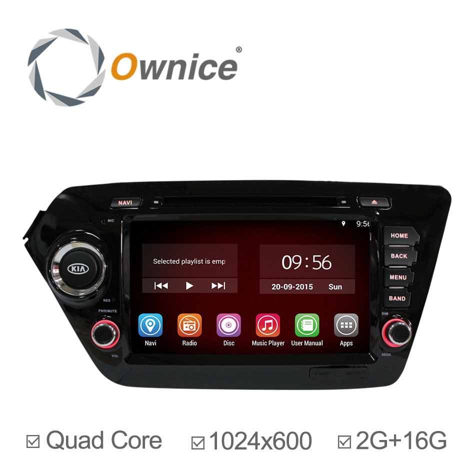For Kia K2 Rio Pure Android 4.4.2 Car DVD GPS Navigation Quad Core Cortex A9 Radio Stereo Player Support TPMS OBD Built-in WiFi<br><br>Aliexpress
