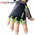 Long Keeper Brand Designer High Quality Gloves Semi finger Gloves Half Fingerless Mittens Women Workout Fitness