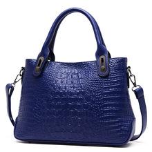 2015 New Women Fall Partner Crocodile Pattern Handbags Composite Cattle Pio Beauty Style Shoulder Diagonal Bag Messenger Bags