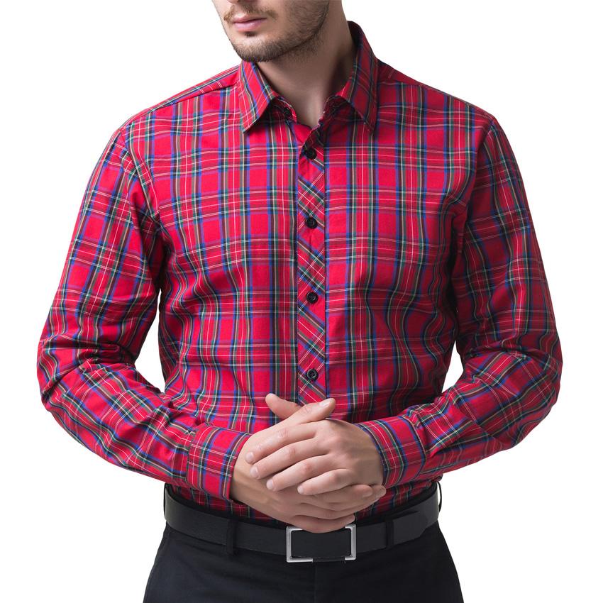 online get cheap mens red dress shirt