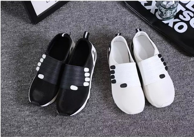 2015 huarache new women thick bottom shoes zapatos mujer fashion velcro wedge sneakers brief flat shoes sport running shoes(China (Mainland))