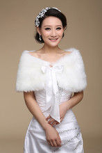 Hot Sale 2015 New Bridal Wraps Brides Accessories Short Wedding Shrug Faux Fur Cheap Wedding Bolero For Formal Dresses Jacket j1(China (Mainland))