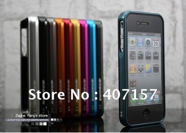 LJY Sword Aluminum case for iphone4S 4G ,Aluminum Bumper Case for iPhone 4S free shipping retail