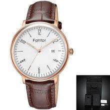 Fantor haut décontracté marque hommes montres étanche lumineux main Date cuir montre-bracelet 2019 classique montre à Quartz pour hommes(China)