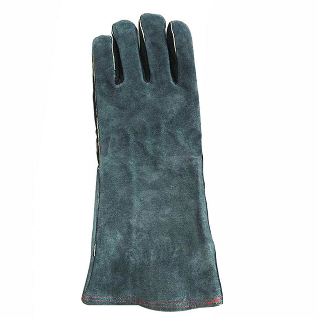 Good quality leather work gloves - High Quality 1 Pair Gloves Insulated Grip Cowhide Leather Work Gloves Reusable Safety Gardening Gloves