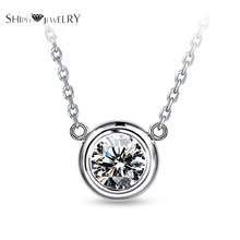Handmade Jewelry!SHIPEI 2016 Fashion CZ Necklace in Plated Platinum with AAA Imitation Round Diamonds,Carat Total Weight 1.88(China (Mainland))