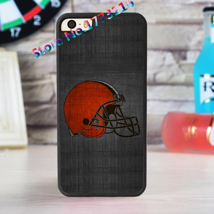 Cleveland Browns New Logo fashion case for iphone 4 4s 5 5s SE 5c for 6 & 6 plus 6S & 6S plus *u110(China (Mainland))