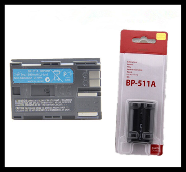 BP-511A Batteries BP 511A BP511A 511 Camera Battery For Canon EOS 300D 10D 20D 30D 40D 50D D30 D60 5D G6(China (Mainland))