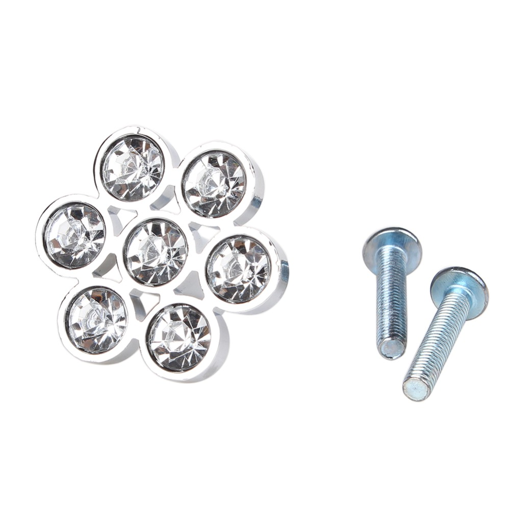 Hot Selling Cool Design Diamond Shape Clear Crystal Drawer Cabinet Door Pull Handle Knob Furniture Hardware Product(China (Mainland))
