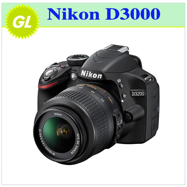 Original Nikon D3000 10.2MP Digital SLR Camera with 18-55mm f/3.5-5.6G AF-S DX VR Nikkor Zoom Lens(China (Mainland))
