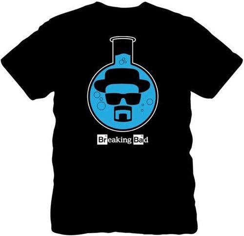 Breaking Bad Heisenberg Chemical Test Tube Black Men's T Shirt Fashion Design Printed 100% Cotton Bacis Top Tee Shirt Size S-3XL(China (Mainland))