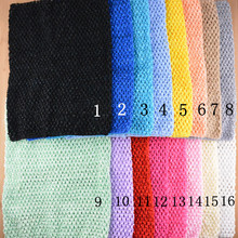 10PCS Wholesale 12 Inch Tutu Crochet Tube Top Baby Stretch Colored Tutu Headband Free Shipping