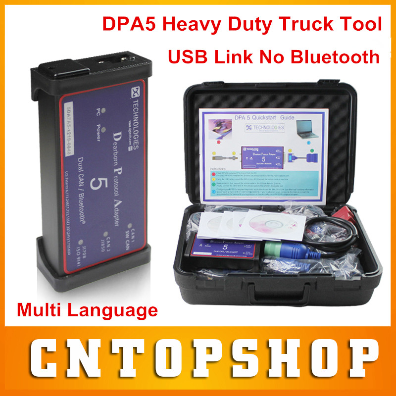 High Recommend DPA5 Truck Diagnostic Tool DPA 5 Dearborn Protocol Adapter Heavy Duty Truck Diagnostic Scanner USB Link Dual Can(China (Mainland))