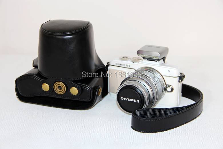2015 High Quality Camera Leather Camera Case Bag Cover for Olympus EPL7 E PL7 free shipping