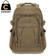 mochila notebook Canvas backpack zipper men rucksacks laptop travel bags Schoolbags military men Vintage college school