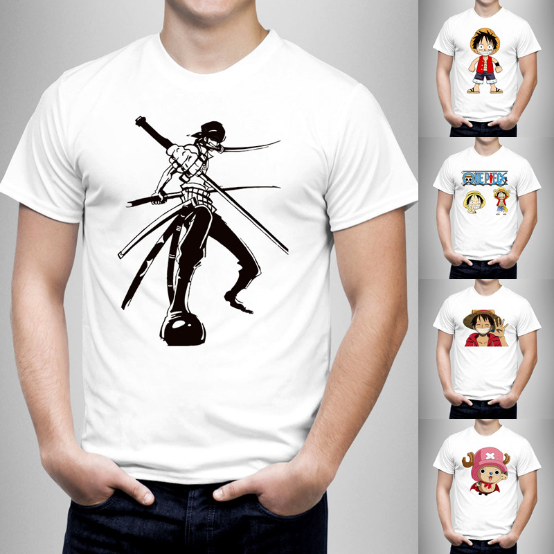 DollyFine Newest fashion 2016 One Piece T Shirt Men T-shirt character Hip Hop Funny Clothing Mens Top Cotton Tee 21 color(China (Mainland))