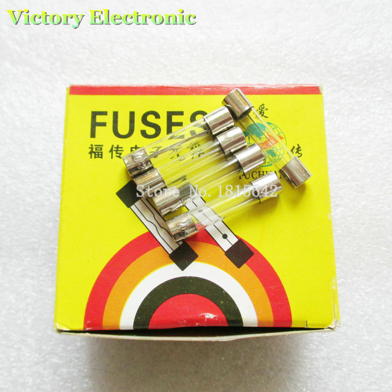 New 10PCS/Lot Fast Blow Glass Fuses 250V 10A 6 * 30mm Insurance Tube Wholesale Electronic