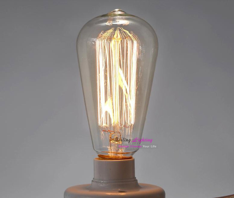 2 pcs 1 lot st64 retro incandescent vintage light bulb diy for Diy edison light fixtures