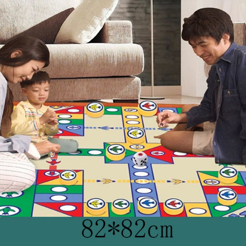 82*82cm play mats baby toy Flying Chess game mat gift for kids(China (Mainland))