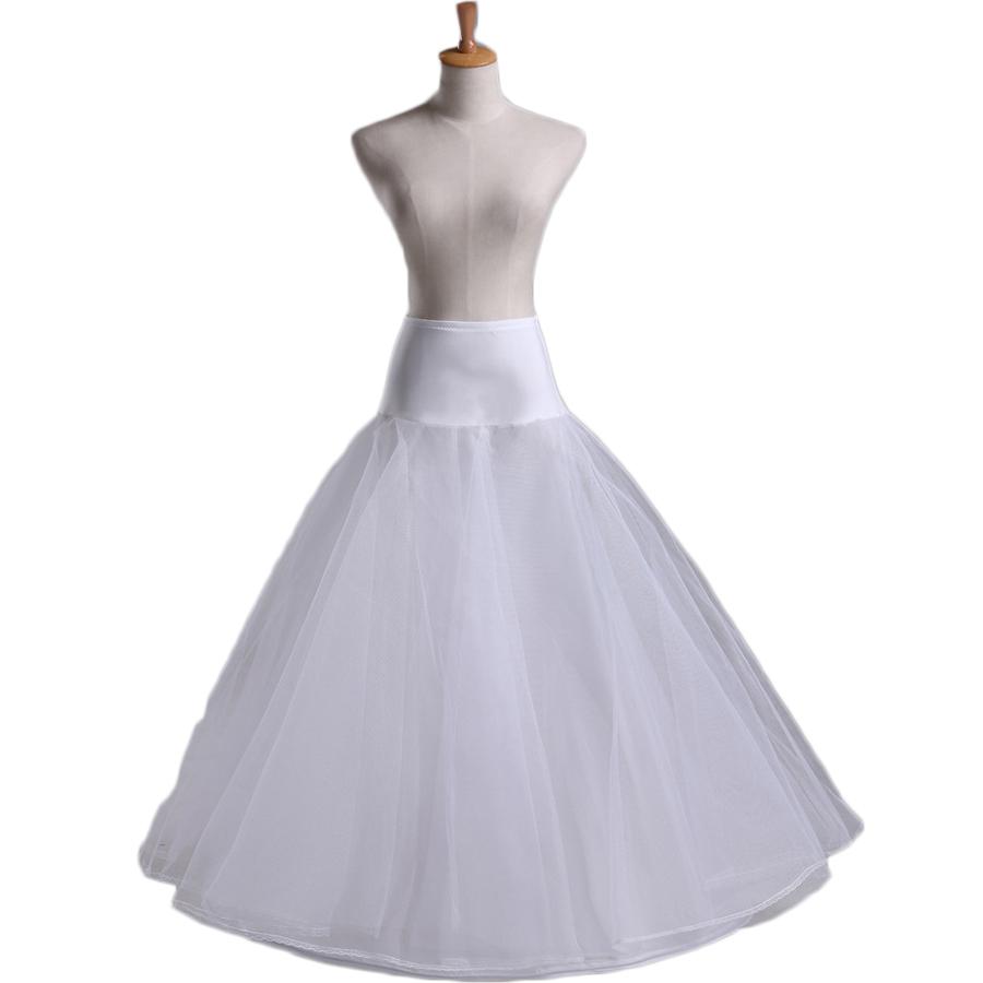 Enagua Rushed Yarn Dyed Primera Capa 2016 Hot Sale 1 Hoop A Line Bone Petticoats For Wedding Dress Skirt Accessories Slip(China (Mainland))