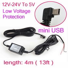 Car Charger DC Converter Module 12V 24V To 5V 2A with mini USB Cable, Low Voltage Protection, Cable Length 3.5m 11.48ft(China (Mainland))