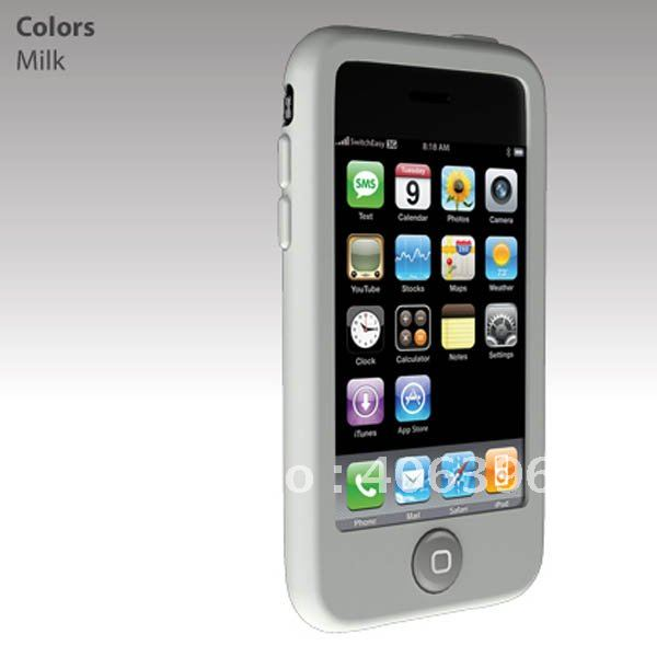 Colorful Plain Soft Silicone Case for iPhone 3G 3GS(China (Mainland))