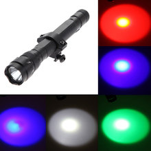 New Arrival LED Gun Tactical Flashlight Torch+Rifle Mount Gun+Remote Switch Outdoor Torch Light Lamp Free Shipping (China (Mainland))
