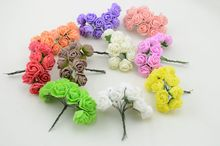 12pcs 2.5 cm diy handmade materials wholesale foam wreath flowers simulation roses wedding bouquet decoration(China (Mainland))