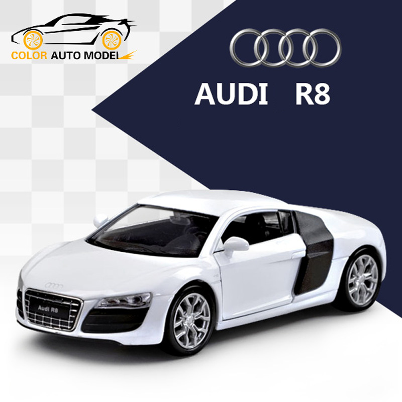 Children Kids Welly AUDI R8 V10 Model Car 1:36 Diecast Metal Alloy Cars Toy Pull Back Gift(China (Mainland))