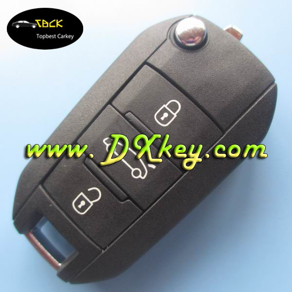 Discount price for Citroen NEW Elysee/C4L 3 buttons car remote key 433mhz id46 chip Original key