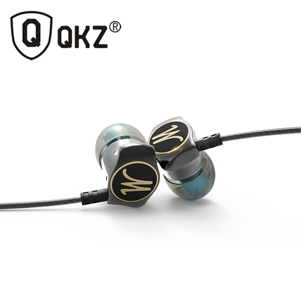 Earphone QKZ DM7 Zinc Alloy Original Stereo Bass earphone Metal handsfree Headset 3.5mm Earbuds for all Mobile Phone mp3 Player(China (Mainland))