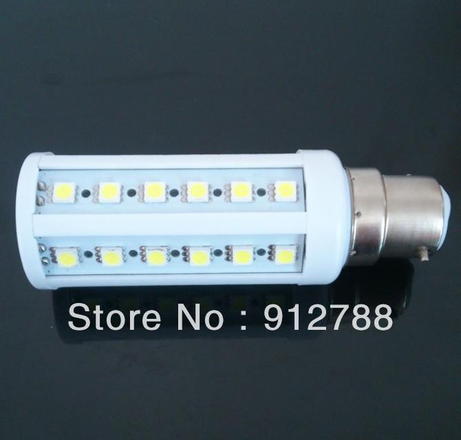 44LED SMD Corn Light Bulb B22 9W 850LM Warm White/white 220V-240V/110V Free shipping 10pcs/lot<br><br>Aliexpress