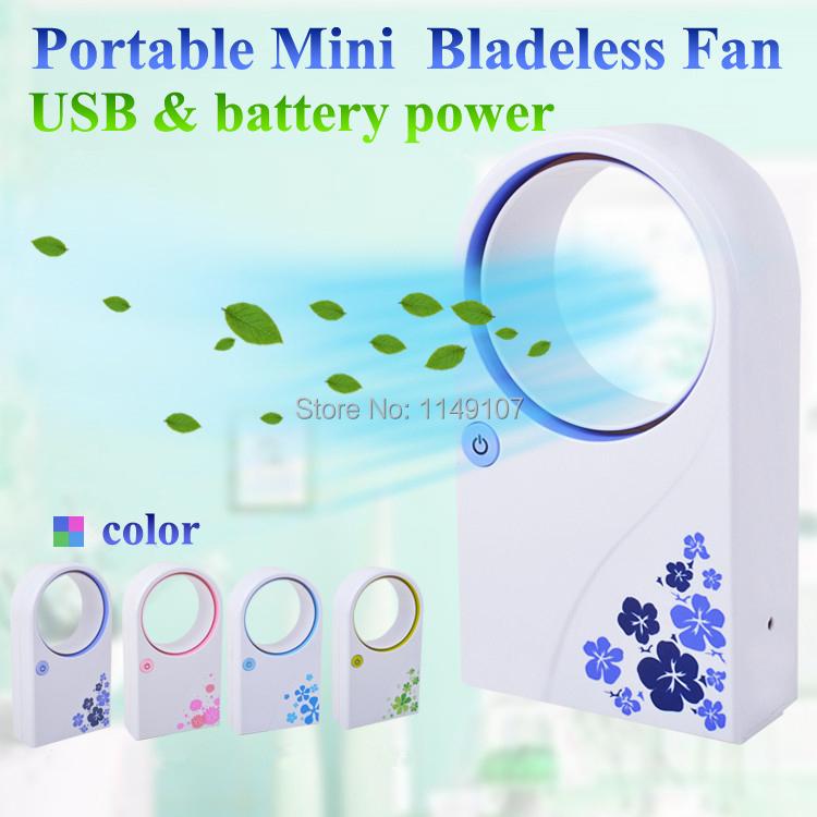 Mini Bladeless Fan Leaf Portable Air Conditioner USB Battery Powered Ventilador Ventilator Desktop Fans - Shanghai Leehom Global Trade Co.,Ltd. store
