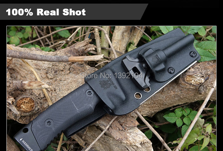 Buy d2 knife hunting knives pocket knife Karambit tactical knifes military army Survival Camping Outdoor fishing harpoon tool cheap