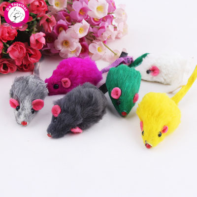 10Pcs/lot Creative False Mouse Pet Cat Toys Cheap Mini Funny Playing Toys For Cats Kitten(China (Mainland))