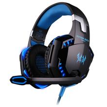 EACH G2000 Pro Game Gaming Headset 3.5mm LED Stereo PC Headphone Microphone Stereo Bass LED Light(China (Mainland))