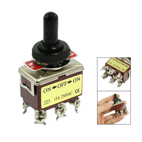 SZS Hot AC 250V 15A 6 Pin DPDT On/Off/On 3 Position Mini Toggle Switch<br><br>Aliexpress
