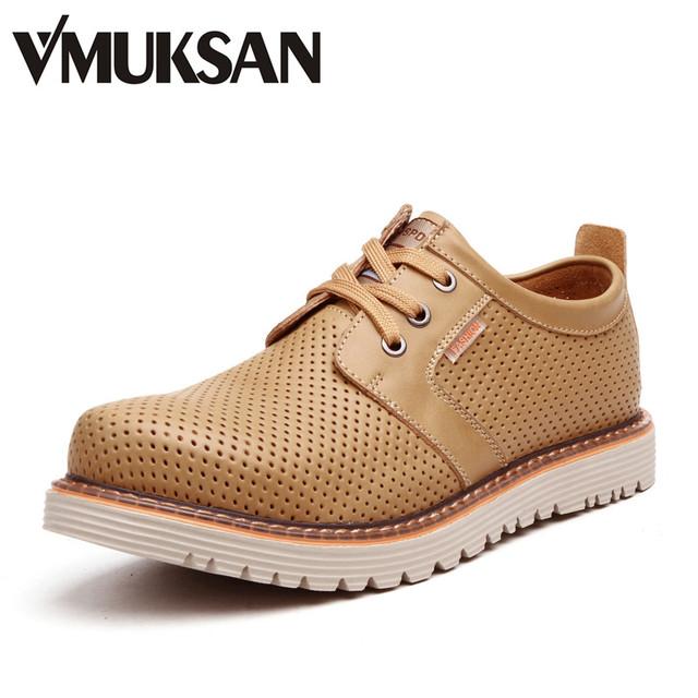 2016 летом мужские ботинки дышащий коричневые кожаные ботинки оксфорды мужчины в ...