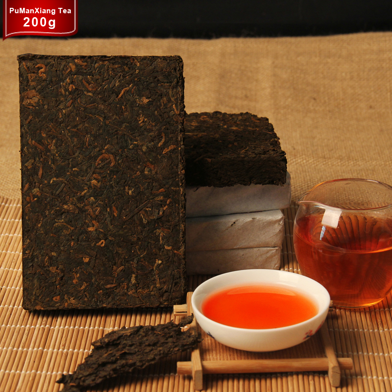 More than 45 Years Old Puer tea Oldest China Yunnan Puerh Pu'er Down three High Clear fire Detoxification Weight Loss Green Food(China (Mainland))