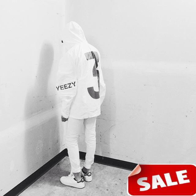 KANYE WEST YEEZY3 DISORDER WORLD BY LA YEEZUS tour jackets white black colors yeezy 3 windbreaker coat Outerwear(China (Mainland))