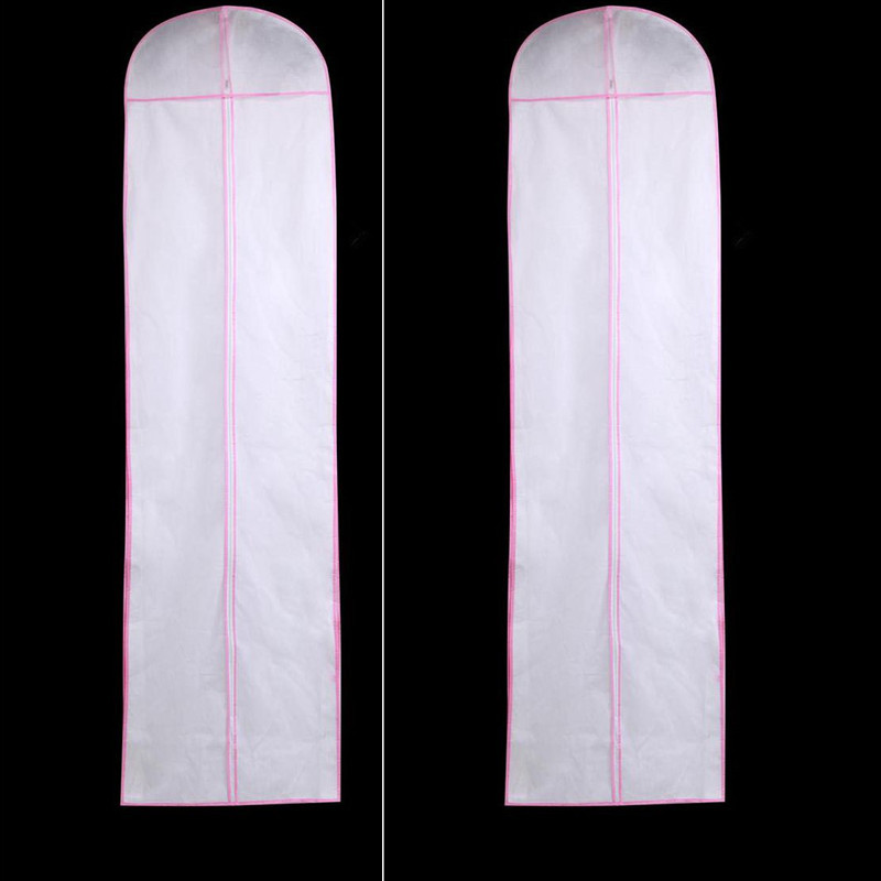 Length 180 Hot Sale Cheap Wedding Dress Bag Clothes Cover Dust Cover Garment Bags Bridal Gown Bag For Wedding Dress Cover DC0010(China (Mainland))
