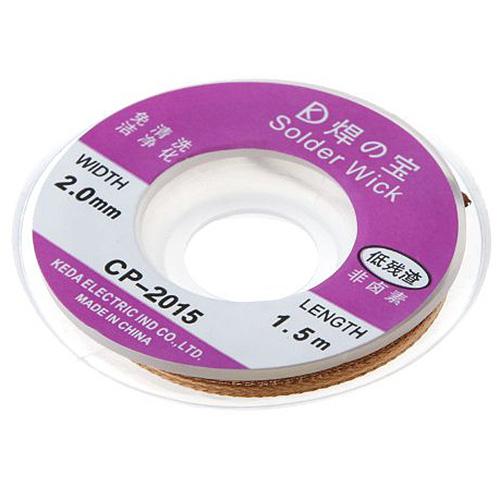 Hot Sale 5ft/1.5M 2.0mm Desoldering Braid Solder Remover Wick
