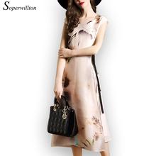 Soperwillton New 2016 Summer Dress Vestidos Dresses For Women Clothing Vestido De Festa Vintage Dress Robe Femme Chiffon #A864(China (Mainland))