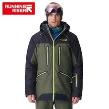 Berjalan River Kualitas Tinggi Merek Pria Musim Dingin Snowboard Jaket 4 Warna 6 Ukuran Hangat Olahraga Outdoor Pakaian untuk Pria Jaket # A7009(China)
