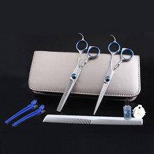 6 polegadas salão de beleza ferramentas de corte Barber Shop Hairdressing Scissors Styling ferramentas profissionais de cabeleireiro tesoura definir