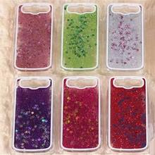 For S3 Cases Glitter Stars Dynamic Liquid Quicksand Hard Case Cover For Samsung Galaxy S3 I9300 Transparent Phone Case YC1009(China (Mainland))